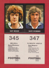 Plymouth Argyle Gary Megson & Millwall Barry Kitchener